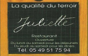 Restaurant La petite France ( Juliette )